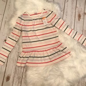 🌼 NWT Gymboree Striped Peplum Long Sleeve Top 7